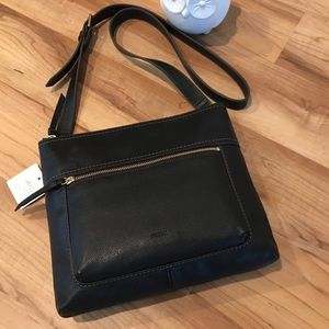 ⭐️NEW LIST⭐️FOSSIL audelia crossbody black NWT